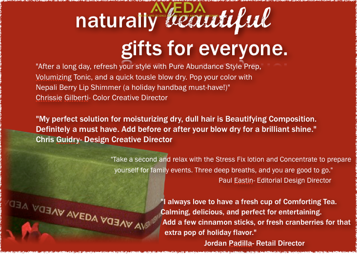 Aveda holiday wish list