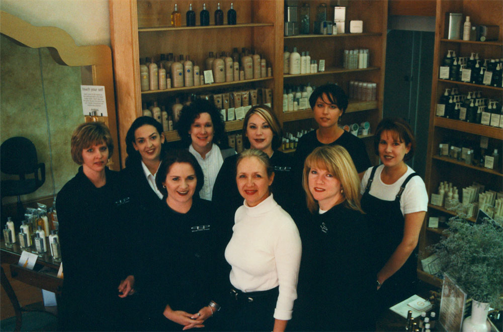 Paris Parker's original team of hairdressers. Source: Neill Corporation
