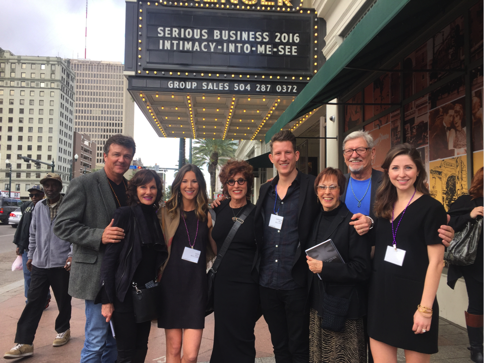 Paris (third from left) and her family at Serious Business, an annual conference for salon owners. | Source: Paris Parker Neill